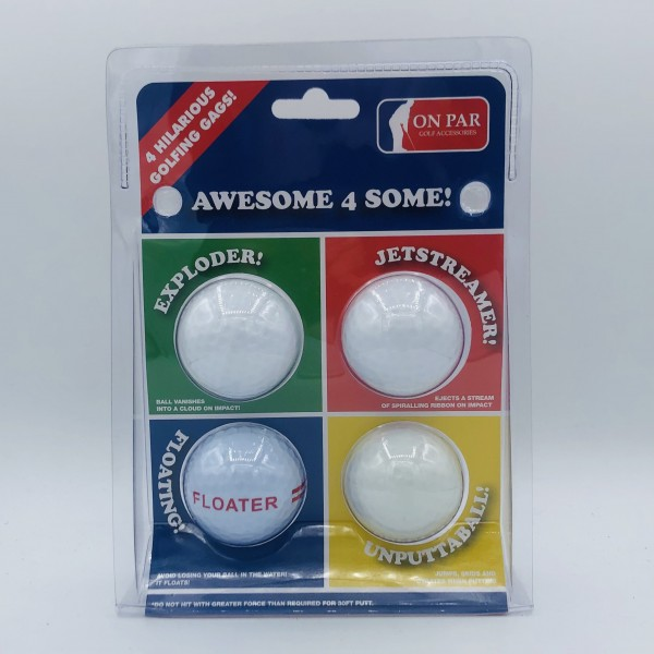 Hilarious Golf Balls - Awesome 4 Some