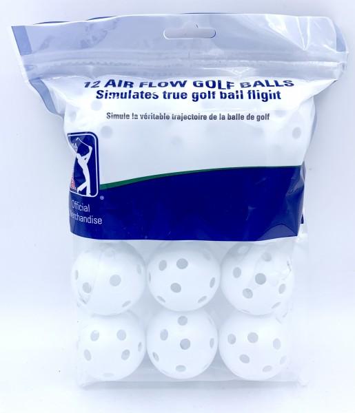 12 Air Flow Golf Balls Weiss