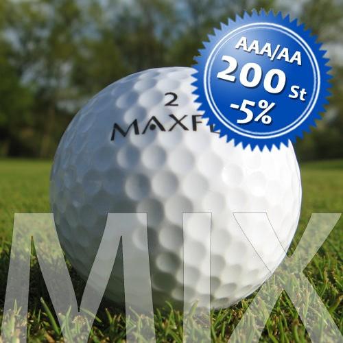Maxfli Mix - Qualität AAA/AA - 200 Stück