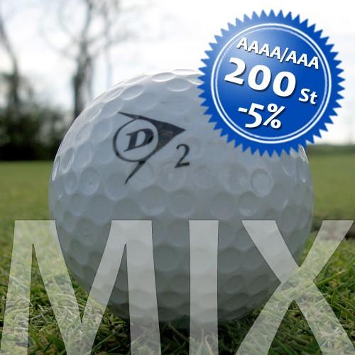 Dunlop Mix - Qualität AAAA/AAA - 200 Stück