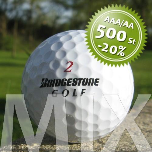 Bridgestone Mix - Qualität AAA/AA - 500 Stück