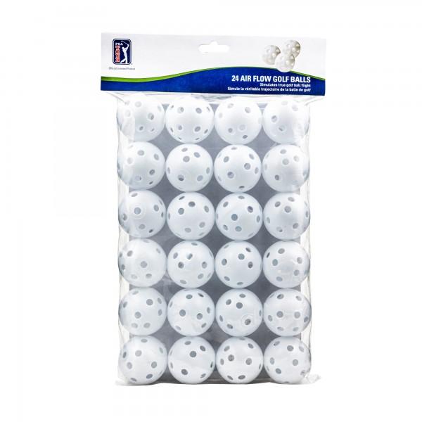 24 Air Flow Golf Balls Weiss