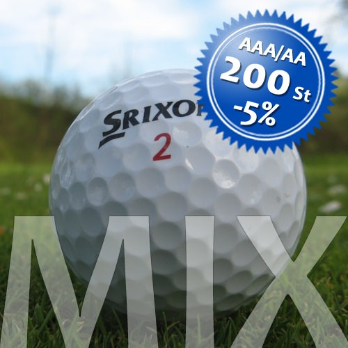 Srixon Mix - Qualität AAA/AA - 200 Stück