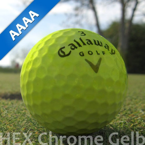 Callaway HEX Chrome Gelb Lakeballs