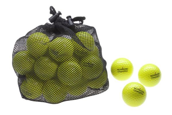Champion Golfbälle - GELB - 25 Stück im Netzbeutel