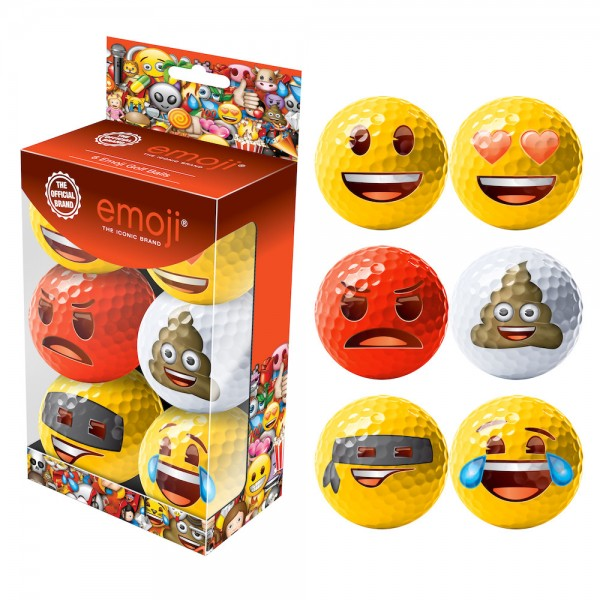 Emoji 6er Golfball-Set