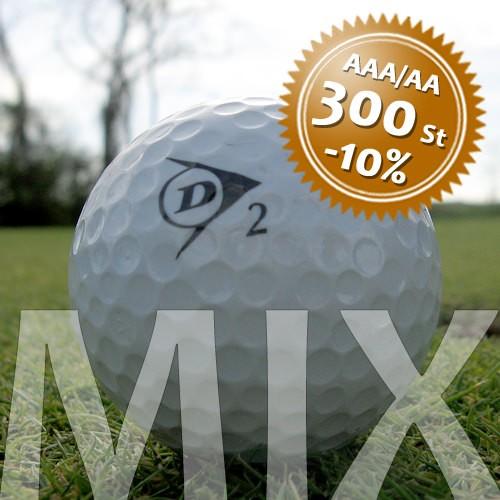 Dunlop Mix - Qualität AAA/AA - 300 Stück