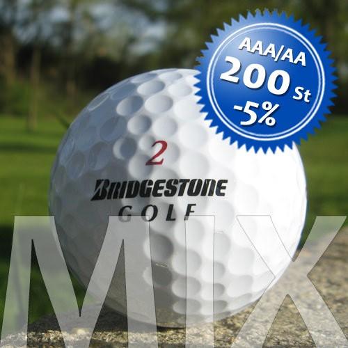 Bridgestone Mix - Qualität AAA/AA - 200 Stück
